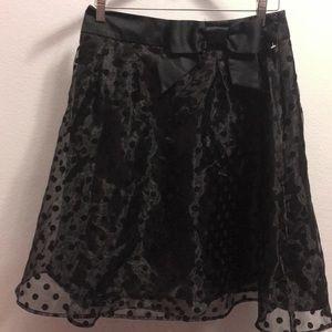 ❤️ Elle Mineral Black A-Line Pinup Skirt